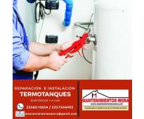 Reparaciòn e instalaciòn de termotanques.  o
