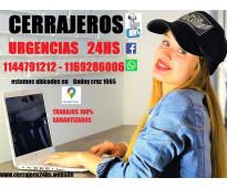 Cerrajeria urgencia 24hs