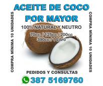 ACEITE DE COCO X MAYOR - IDEAL REVENDEDORES - SALTA CAPITAL