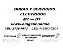 Obras y Sericios ELECTROMECANICOS de MT - BT