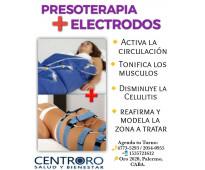 Presoterapia + electrodos