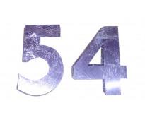 Números para interior en acero inoxidable