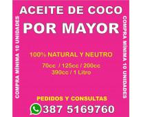 ACEITE DE COCO X MAYOR - SALTA CAPITAL - PEDIDOS VIA WPP