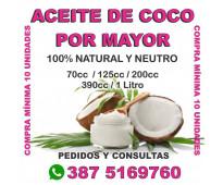 ACEITE DE COCO X MAYOR - SOLO SALTA CAPITAL - PEDILO