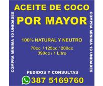 ACEITE DE COCO X MAYOR - HACE TU PEIDO - SALTA CAPITAL