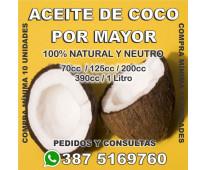 ACEITE DE COCO - POR MAYOR - SALTA