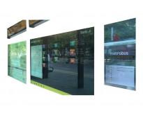 Carteles para paradas de metrobus