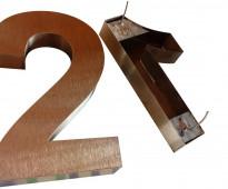 Números de acero inoxidable para casas en callao valentín alsina