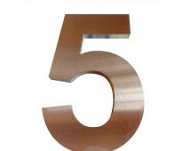 Números y letras de acero en calle boquerón v. alsina