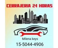 Cerrajería 24 horas en Muñiz 15-5044-4906 cerrajería milena keys del automotor,...