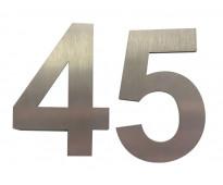 Números de acero inoxidable en calle brasil v. alsina