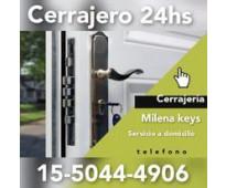 Cerrajería milena kesy en Beccar de auto casa 11-5044-4906 las 24 horas a Domici...