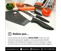 Set de cuchillos de cerámica (utilitario + chef + pelador)