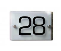 Números de acrílico para casas santa fé