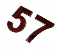 Números para mi casa de acero inoxidable rosario