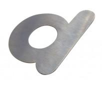 Corte de letras en acero plotter