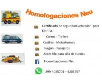 Chapa patente trailers y homologacion vehicular