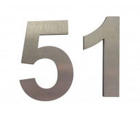 Números en acero inoxidable 3d