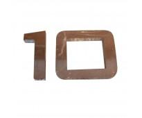 Números en acero inoxidable para fachadas