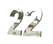 Números de metal para casas yerbal