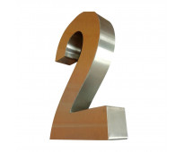 Números de acero la plata