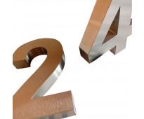 Acero inoxidable letras y números combinados
