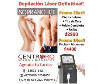Super promo depilación definitiva láser soprano ice- octubre 2021