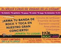 Curso de verano para niños y jóvenes especializado en bandas de rock, vocales y...
