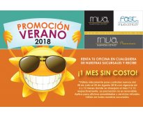 Promociones en rentas de oficinas por verano