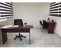 Oficinas en renta servicios incluidos y amuebladas