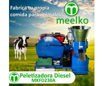 Mkfd230a peletizadora 230 mm 22 hp diesel 300-400 kg/h
