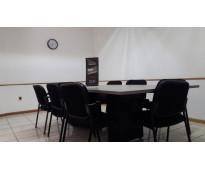Excelente sala de juntas en renta