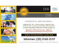 Promocion en renta de oficinas virtuales todo mayo