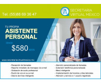Tu propia asistente personal desde $ 580 al mes