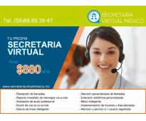 Tu secretaria virtual desde $ 880 mensuales