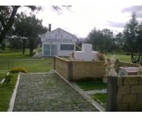 Jardín particular con 1 cruz con 6 nichos panteón ángeles tlaxcala