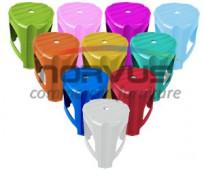 Bancos de plastico de colores para fiestas
