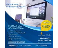 Oficinas virtuales y gratis 4 meses de renta