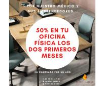 Oficina en renta al 50% de descuento