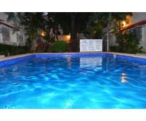 Cerca de pza malecón amércas amueblado 2 recámaras 2 baños piscina internet serv...
