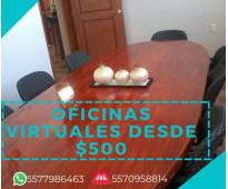 Oficinas virtuales desde $500
