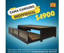 Cama canguro individual individual chocolate en villa juarez