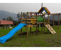 Parques infantiles en madera -juegos modulares