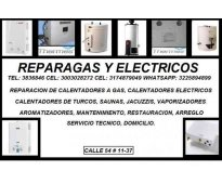Instalacion de calentadores a gas, calentadores electricos cel 3003028272