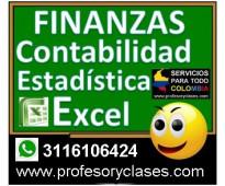 Profesor particular de finanzas contabilidad excel estadistica en medellin clase...