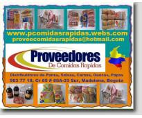 ⭐ proveedores comidas rapidas, panes, salsas, carnes, papas, quesos, pizza, hamb...