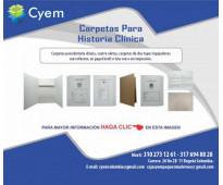 Carpetas para archivo de historia clinica en propalcote desacificado