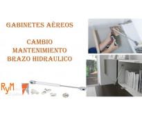 Mantenimiento de brazo hidráulico gabinete aéreo