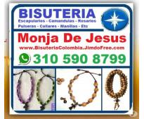 ⭐ monja de jesus= bisuteria colombia, camandulas, rosarios, pulseras, denarios,...
