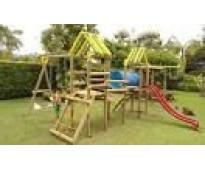 Juegos en madera -parques infantiles